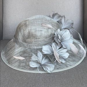 August Hats Sinamay Feather Church Derby Hat